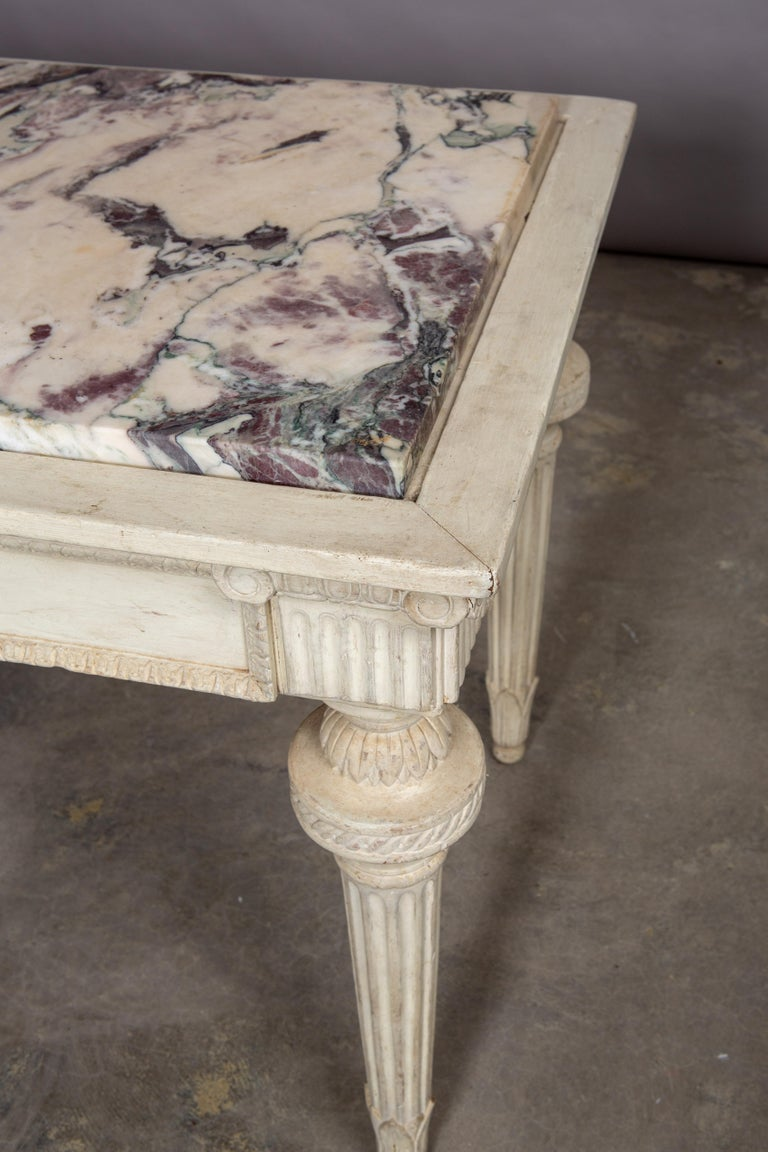 19th Century Neoclassical Style Marble-Top Table In Good Condition For Sale In New York, NY