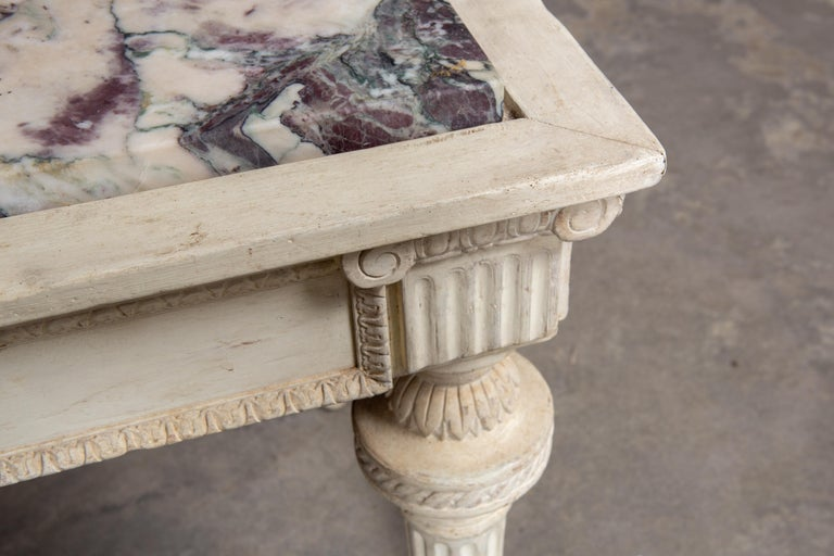 Mid-20th Century 19th Century Neoclassical Style Marble-Top Table For Sale