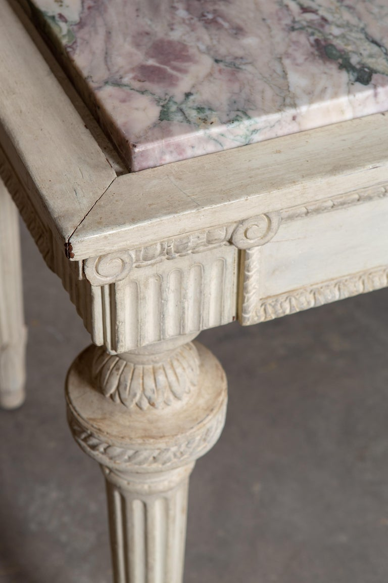 19th Century Neoclassical Style Marble-Top Table For Sale 1