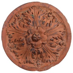 19th Century Neoclassical Style Terracotta Roundel Boss
