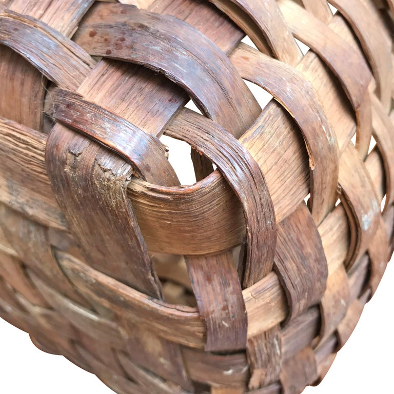 19th Century New England Gathering Basket For Sale 3