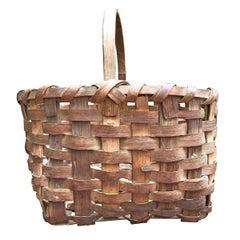 19th Century New England Gathering Basket