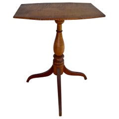 19th Century New England Tilt-Top Tripod Table