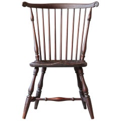 19th Century New England Windsor Fanback Side Chair