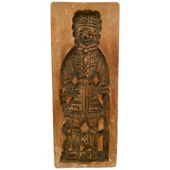 19th Century Nobleman Wooden Gingerbread Cookie Speculaas Springerle Mold