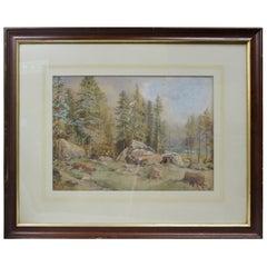 19th Century North American Landscape Watercolor