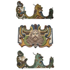 19th Century North Spanish Carousel Front and Side Panels