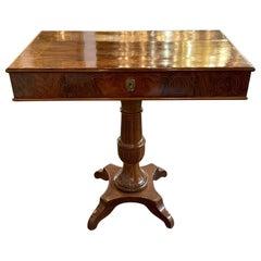 19th Century Northern Italian Crotch Mahogany Side Table