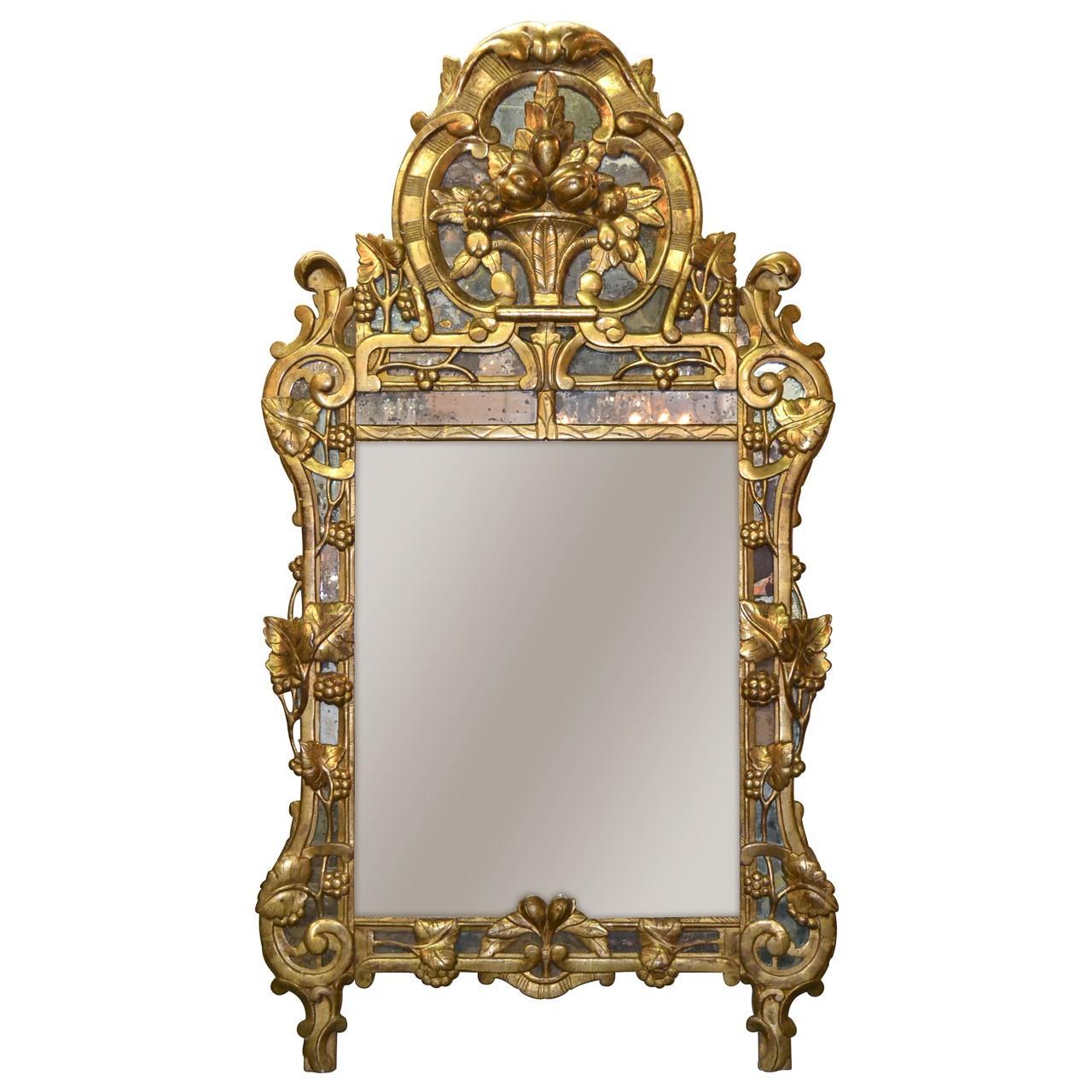 19th Century Northern Italian Giltwood Mirror