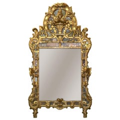 19th Century Northern Italian Giltwood Mirror