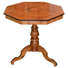 19th Century Northern Italian Inlaid Occasional Table