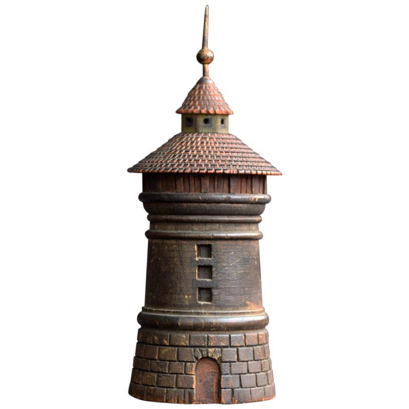 19th Century Nuremberg Tower Spice Box, circa 1870