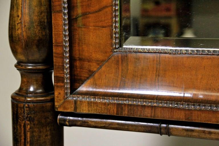 Austrian 19th Century Nutwood Cheval Mirror Early Biedermeier Period, Austria, circa 1825 For Sale