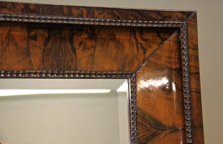 19th Century Nutwood Cheval Mirror Early Biedermeier Period, Austria, circa 1825 For Sale 2