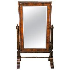 19th Century Nutwood Cheval Mirror Early Biedermeier Period, Austria, circa 1825