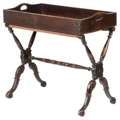 19th Century Oak Butler Tray Foldable