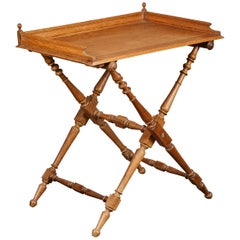 19th Century Oak Butler's Tray Table