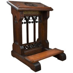 19th Century Oak Church Lectern Praying-Reading Stand