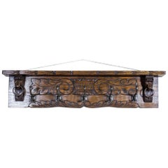 19th Century Oak Coat Rack