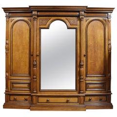 19th Century Oak Compactum Wardrobe