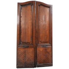 19th Century Oak Double Louis 15 Style Door