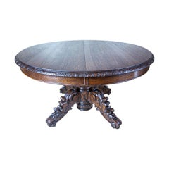 19th Century Oak Extendable Table for 16 People
