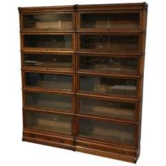 19th Century Oak Globe Wernicke Bookcase