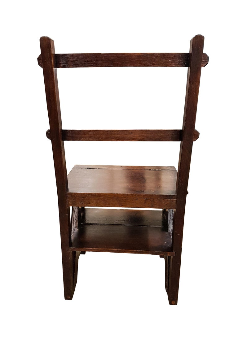 19th Century Oak Gothic Revival Metamorphic Chair or Steps For Sale 2