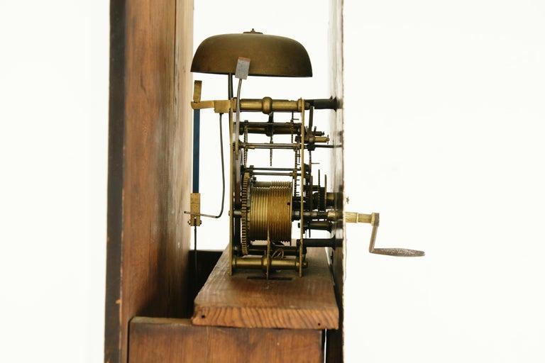 19th Century Oak Longcase Grandfather Clock 8 Day Works, Scotland 1850, B1711 For Sale 4
