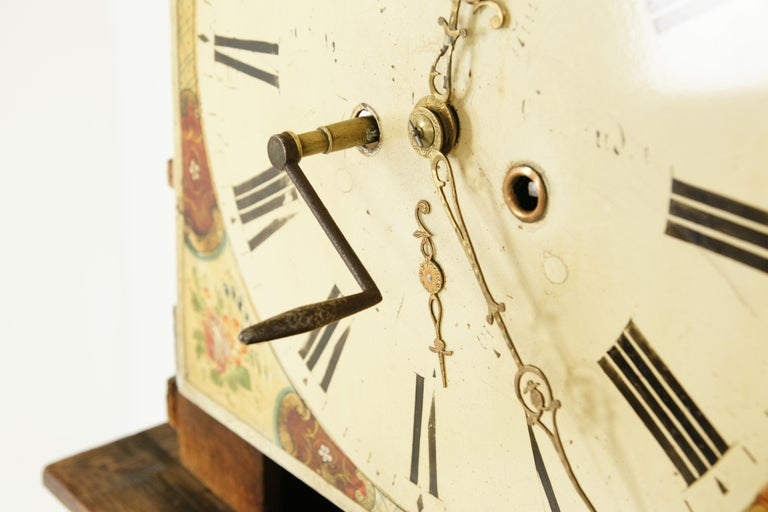 19th Century Oak Longcase Grandfather Clock 8 Day Works, Scotland 1850, B1711 For Sale 2