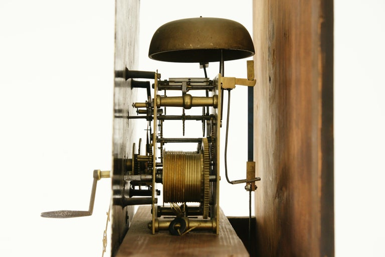19th Century Oak Longcase Grandfather Clock 8 Day Works, Scotland 1850, B1711 For Sale 3