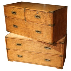 19th Century Oak Military Chest of Drawers