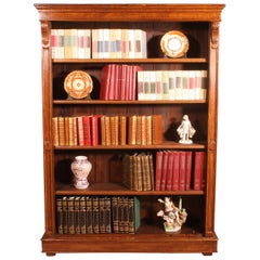 19th Century Oak Open Bookcase from England