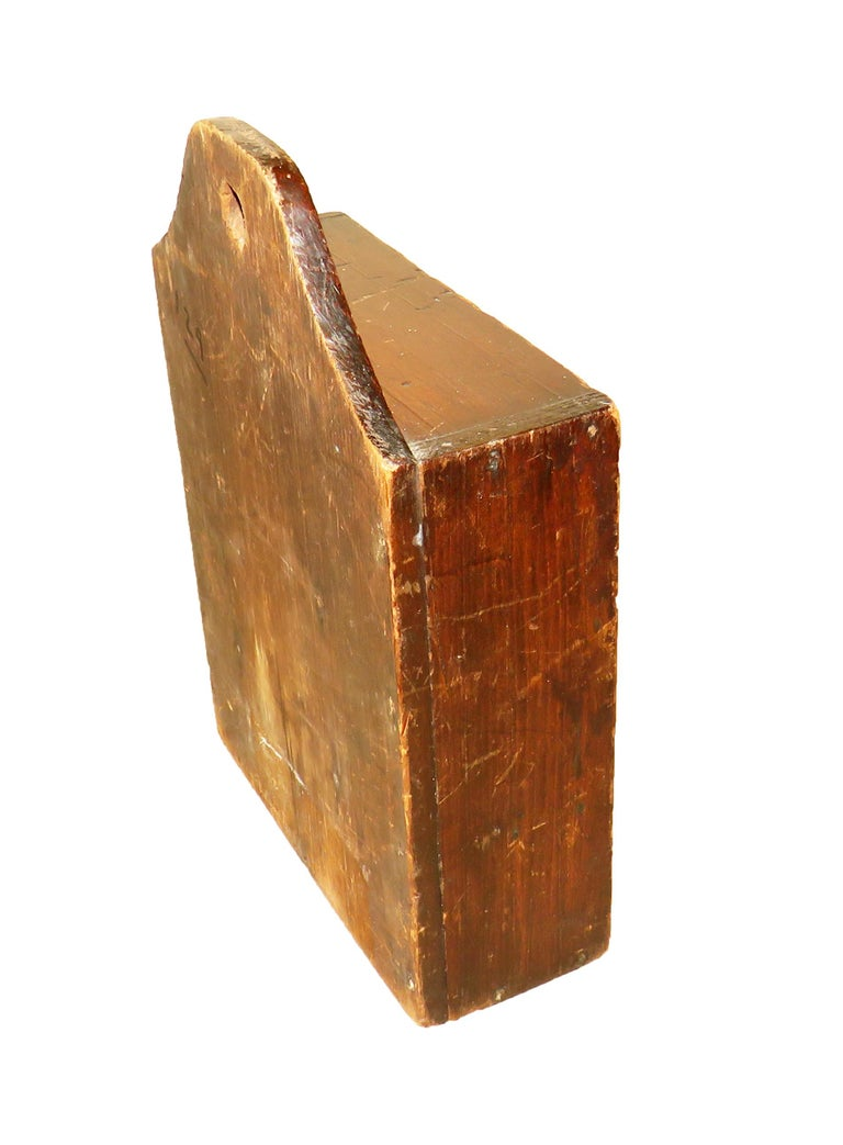 English 19th Century Oak and Pine Wall Hanging Spice Box For Sale