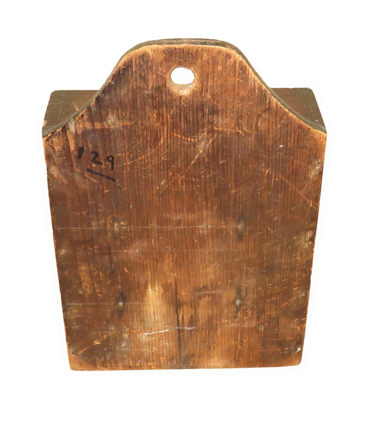 19th Century Oak and Pine Wall Hanging Spice Box In Good Condition For Sale In Bedfordshire, GB