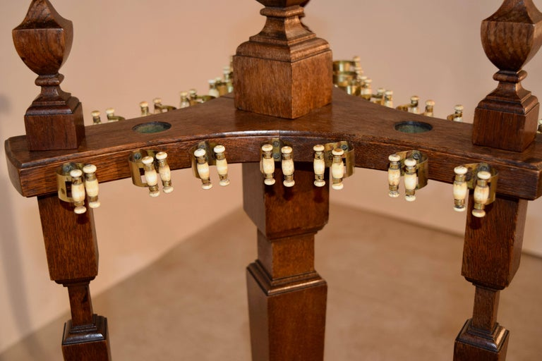 English 19th Century Oak Pool, Billiard or Snooker Cue Stand For Sale