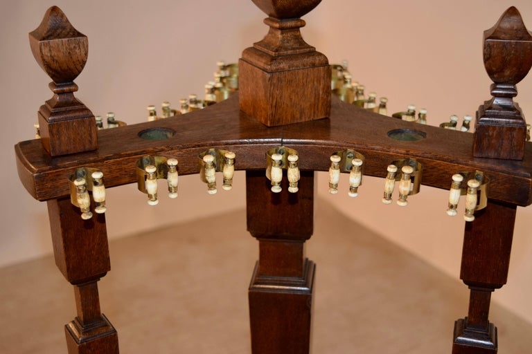 19th Century Oak Pool, Billiard or Snooker Cue Stand In Good Condition For Sale In High Point, NC