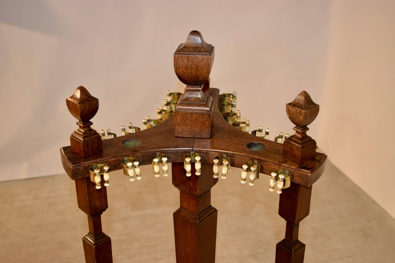 19th Century Oak Pool, Billiard or Snooker Cue Stand For Sale 2