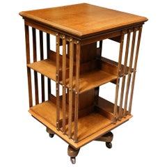 19th Century Oak Revolving Bookcase Maple & Co