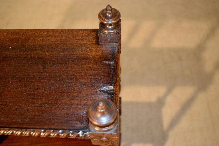Turned 19th Century Oak Shelf from France For Sale