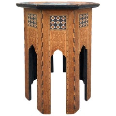 19th Century Octagonal Syrian Inlaid Drinks Table
