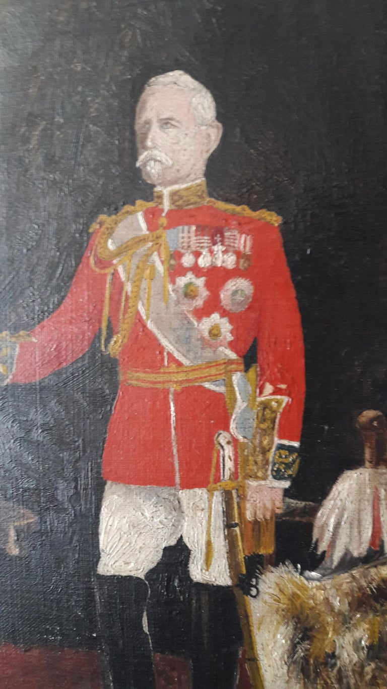 Georgian 19th Century Oil of an Officer For Sale