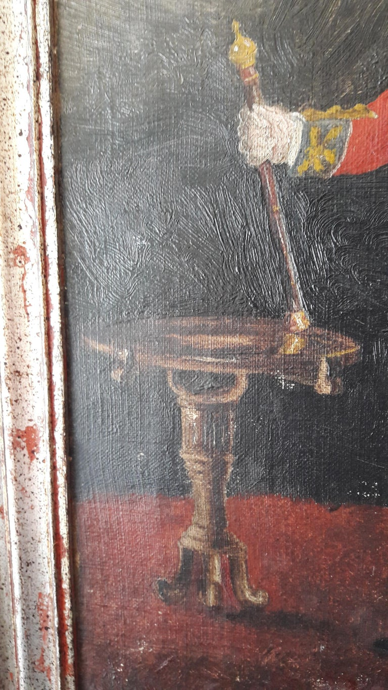 19th Century Oil of an Officer For Sale 1