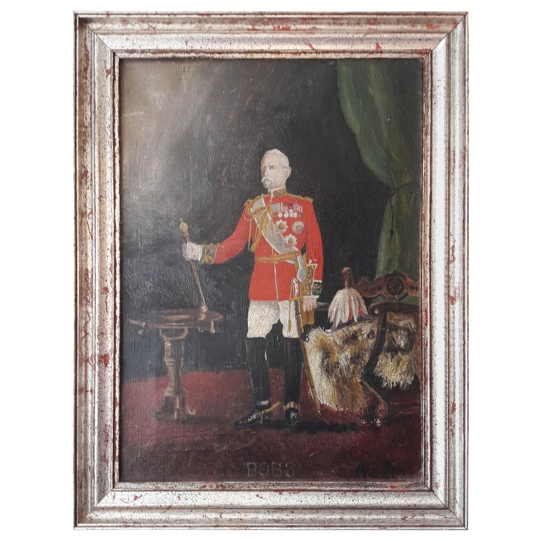 19th Century Oil of an Officer For Sale