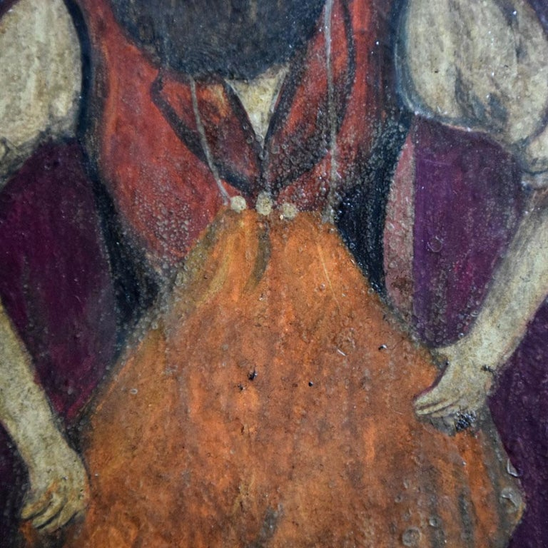 Paint 19th Century Oil on Board of a Blacksmith For Sale