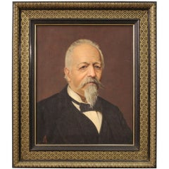 19th Century Oil on Canvas Antique French Portrait Painting, 1880
