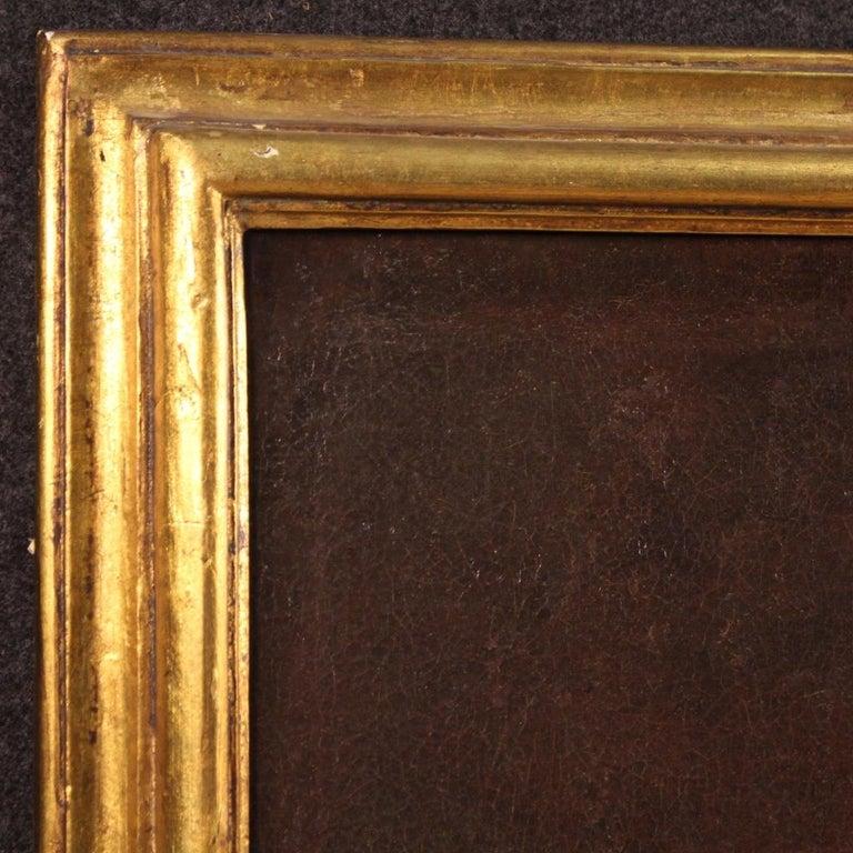 19th Century Oil on Canvas Antique Italian Painting Saint Joseph and Jesus, 1870 For Sale 2