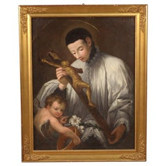 19th Century Oil on Canvas Antique Italian Religious Painting, 1830