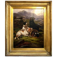 """19th Century Oil on Canvas by John Gifford 'd.1900' """"A Successful Shoot"""""""