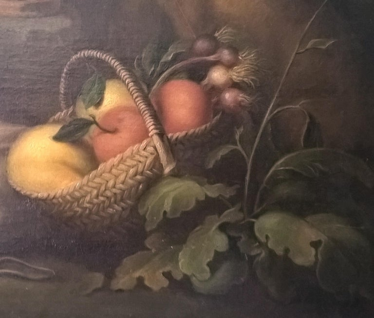 19th Century Oil on Canvas Figurative Group in the Baroque Style For Sale 3